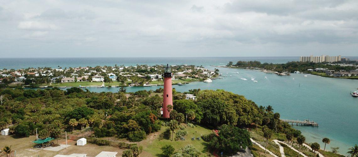 The lighthouse in Jupiter Florida